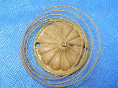 """Antique Vintage Clock Coil Gong Bell Wire Chime - Spring diameter 4"""""""