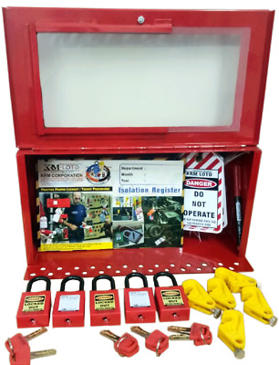 Krm Loto-Osha Lockout Tagout Electrical Box  Kit