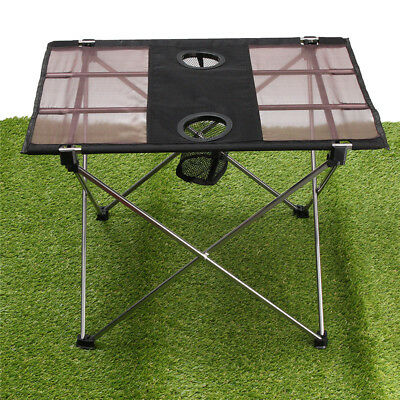 Ultra-léger Table Camping Pliante Oxford Fabric Pliable Camping Outdoor Portable