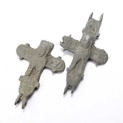Ancient Bronze Reliquary Cross Pendant