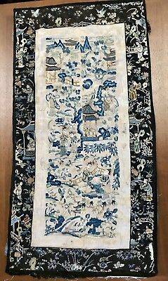Chinese Sleeve Band Panel Extremely Fine Embroidery Antique Earlier Qing