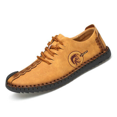 Mens Suede Loafers Boat Shoes British Style Moccasins Lace up Casual Shoes