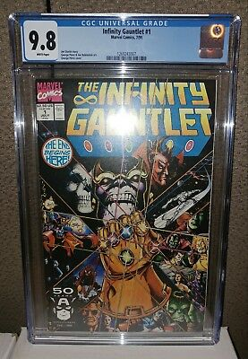 Infinity Gauntlet #1 -  CGC 9.8 - White Pages - Thanos/Avengers - New