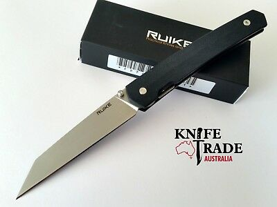 Ruike P865-B Folding Pocket Knife G10 Handle Linerlock Sandvik14C28N Blade EDC