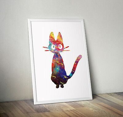 studio ghibli inspired kiki's delivery poster print wall art decor anime manga