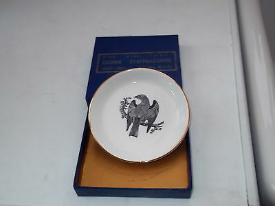 Boxed Crown Staffordshire Pin Tray For Diamond Jubilee Insurance Institute Stoke