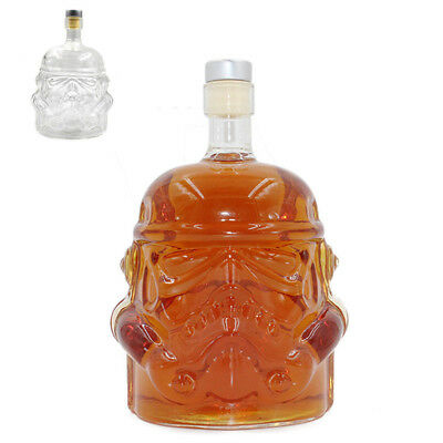 Star Wars Glass Stormtrooper Wine Whisky Liquor Alcohol Clear Decanter Bottle