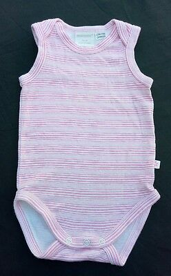 Marquise Girls One Piece Romper Size 0 Pink White Striped Sleeveless Soft