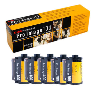 5 Rolls Kodak ProImage 100 Professional 35mm 36 Exposures Negative Film 01-2021