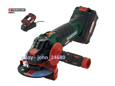 Parkside Cordless 20V Team Li-ion Battery + Charger Angle Grinder Tool