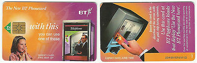 """Bt Phonecard – """"New Bt Phonecard - With This"""" – Orange – 1998 – Used"""