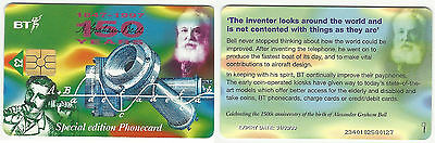 Bt Special Edition Phonecard – 150 Years Alexader Graham Bell – 1999 – Used