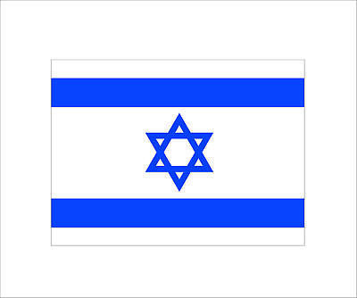 1 x Israeli Flag Sticker Decal of jewish jew pro israel Hard Hat Car 3M Graphic