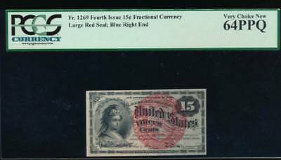 AC Fr 1269 $0.15 1869 fractional fourth issue PCGS 64 PPQ