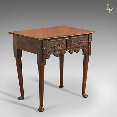 Antique Oak Side Table, Georgian, English, Country Occasional 18th Century c1750