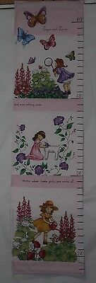 GROWTH CHART FOR GIRLS Finished ROBERT KAUFMAN  Fabric Wall Hanging Pink N