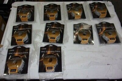 NEW Lot of 10*Q-See QS50B 50FT BNC Ext. 75 OHM Coaxial Video Cables/OPEN BOX