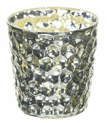 Insideretail Mercury Glass Tea Light Holders, Bubble, with Distressed Foil, 7cm
