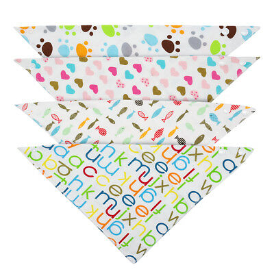 4pcs Male Dog Collars Dog Bandana Collar Soft Cotton Pet Neck Scarf 12.5-14""