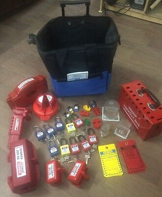 KRM LOTO - OSHA Lockout Tagout Electro Mechanical Site Maintenance Kit