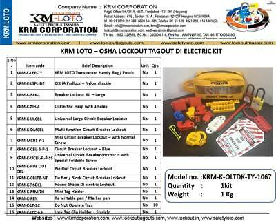 Krm Loto - Osha Lockout Tagout Di Electric Kit