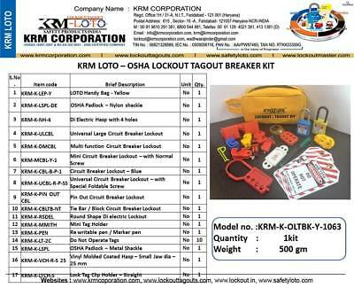 Krm Loto - Osha Lockout Tagout Breaker Kit
