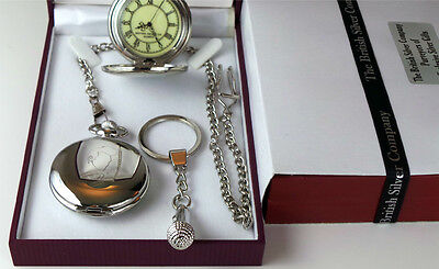 Morrissey  Signed Pocket Watch & Silver Microphone Keyring Luxury Set The Smiths