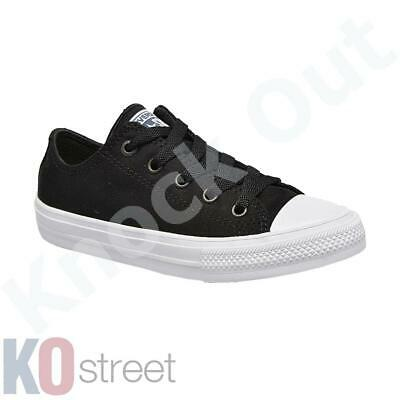 Boys, Girls Converse All Star 2 Canvas Chuck Taylor Low Trainers Shoes Youth ...