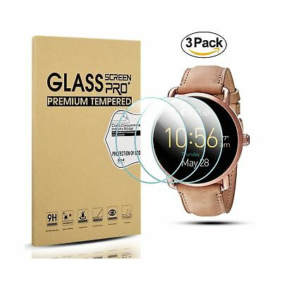 Diruite 3-Pack for Fossil Q Wander Gen 2 Screen Protector, 2.5D 9H Hardness T...