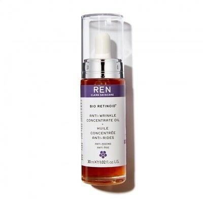 REN Clean Skincare Bio Retinoid Anti-Wrinkle Concentrate Oil 30ml BNIB