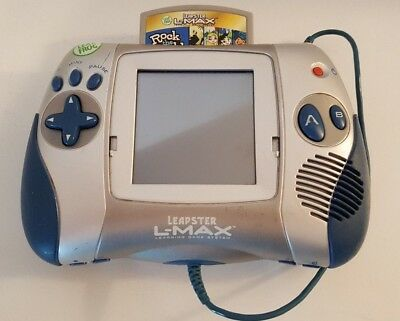 Leap Frog Leapster L-Max Handheld Game System Silver and Blue - OOP