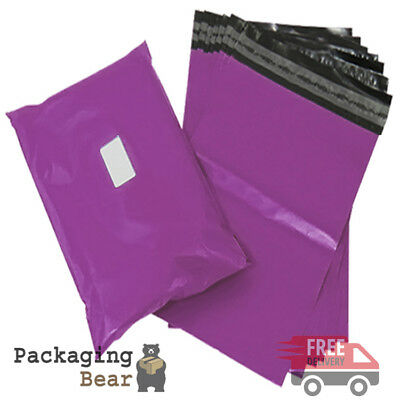 """50 x Strong PURPLE 10x14"""" Mailing Postal Poly Postage Bags 10""""x14"""" (250x350mm)"""