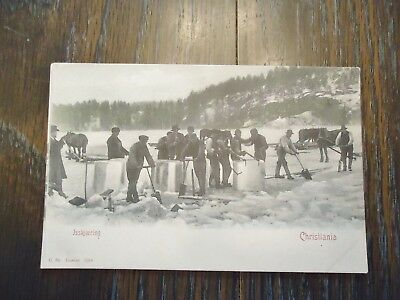 Rare early 1900's Oslo, Norway(today) B & W Postcard Issakjaering, Christiania.
