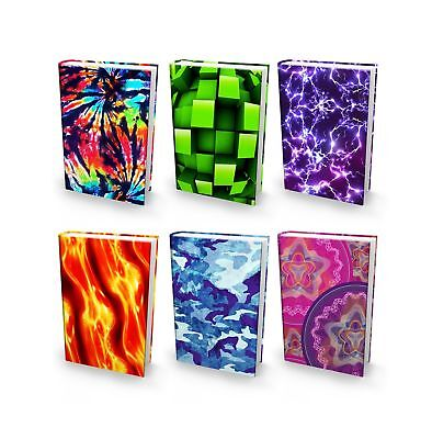 BOOK SOX Stretchable Book Cover: JUMBO NOVELTY PRINTS Value Pack of 6 Jackets...