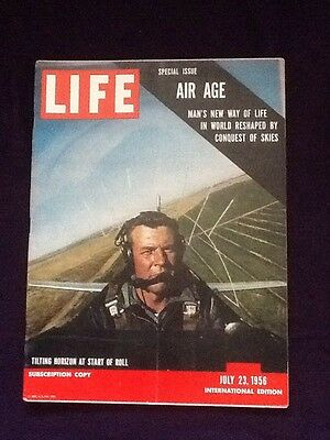 LIFE magazine Jul 23rd 1956 AIR AGE ISSUE travel planes PEPSI COLA Advert