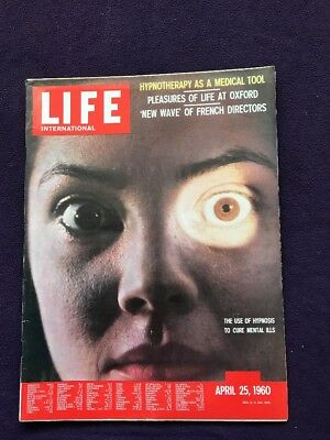 LIFE magazine Apr 25th 1960 HYPNOTHERAPY Oxford Education CUBA