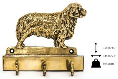 Clumber Spaniel - brass hanger with image of a purebred dog, quality, Art Dog