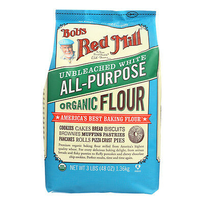 Bob's Red Mill Organic Unbleached White All-Purpose Flour - 48 oz - Case of 4