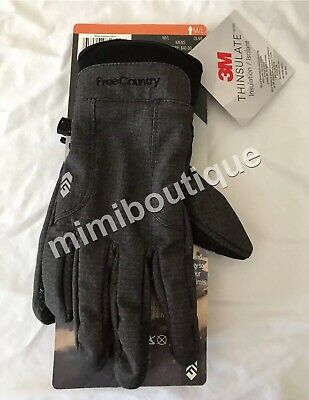 Free Country Men/'s Outdoor Softshell Gloves with Thinsulate Olive