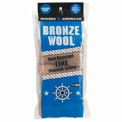Homax 123100 Fine Bronze Steel Wool, 3 Pack