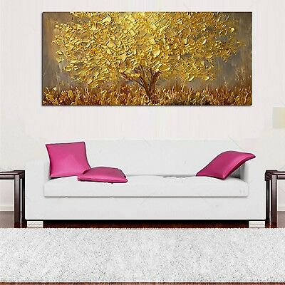 Hand Painted Gold Tree Oil Painting Art On Canvas Modern 3D Painting Living Room
