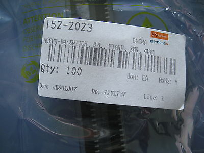 100 x MCEPM-04 DIP Switch DIL Piano SMD 4 Way 1522023