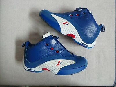 2168cfed9c26 Reebok Answer IV 4 royal blue red Stepover 2013 Allen Iverson AI sz 10.5 DS  NEW