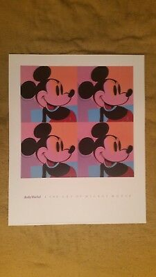 "ANDY WARHOL The Art of MICKEY MOUSE #2 Poster 24"" X 30"" OOP Disney"
