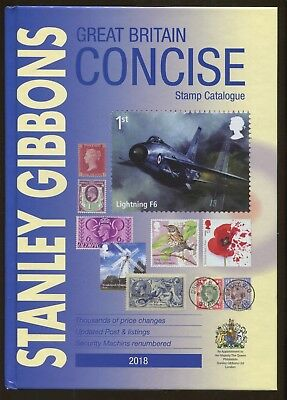 New 2018 Stanley Gibbons Great Britain Concise Postage Stamp Catalogue Hardcover