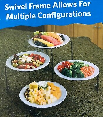 Tier Swivel Buffet Server Multiple Configurations
