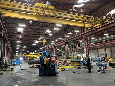 20 Ton x 40' Frontier Double Girder Top Riding Overhead Bridge Crane