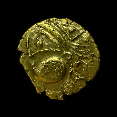 Northwest Gaul Aulerci Eburovices Celtic Gold Hemistater EXCEPTIONAL & VERY RARE
