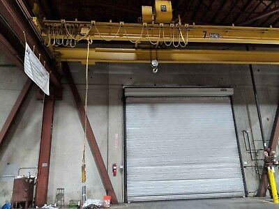10 Ton x 40' Frontier Double Girder Top Riding Overhead Bridge Crane and Hoist