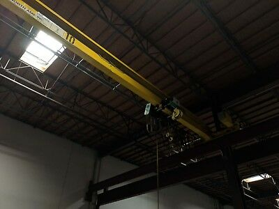 3 Ton x 60' North American Single Girder Under Hung Overhead Bridge Crane 2006
